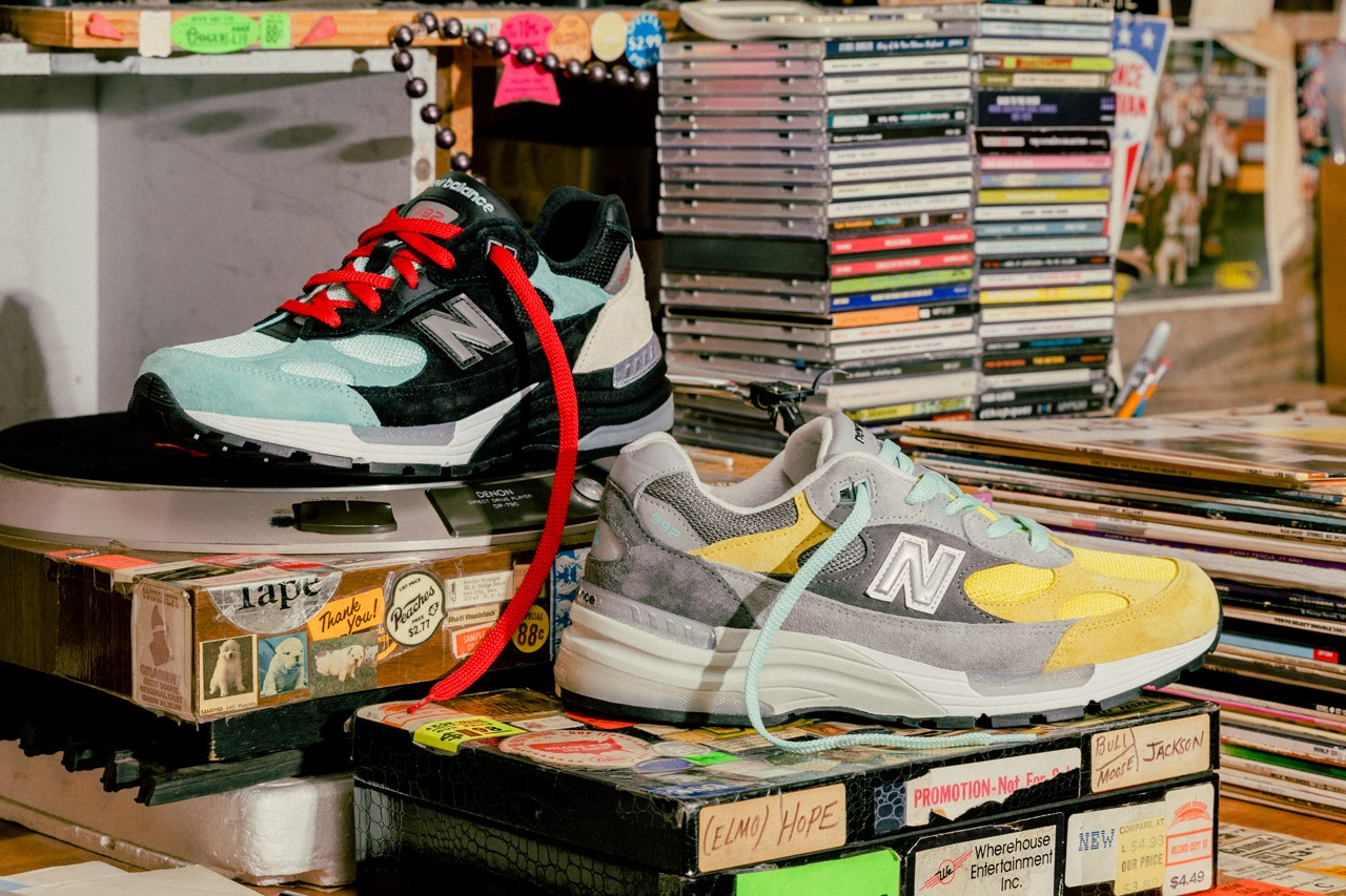 "Nice Kicks x Amoeba Music x New Balance 992 ""Peace Through Music"" ナイスキックス × アメーバミュージック × ニューバランス M992 ""ピース スルー ミュージック"" main"