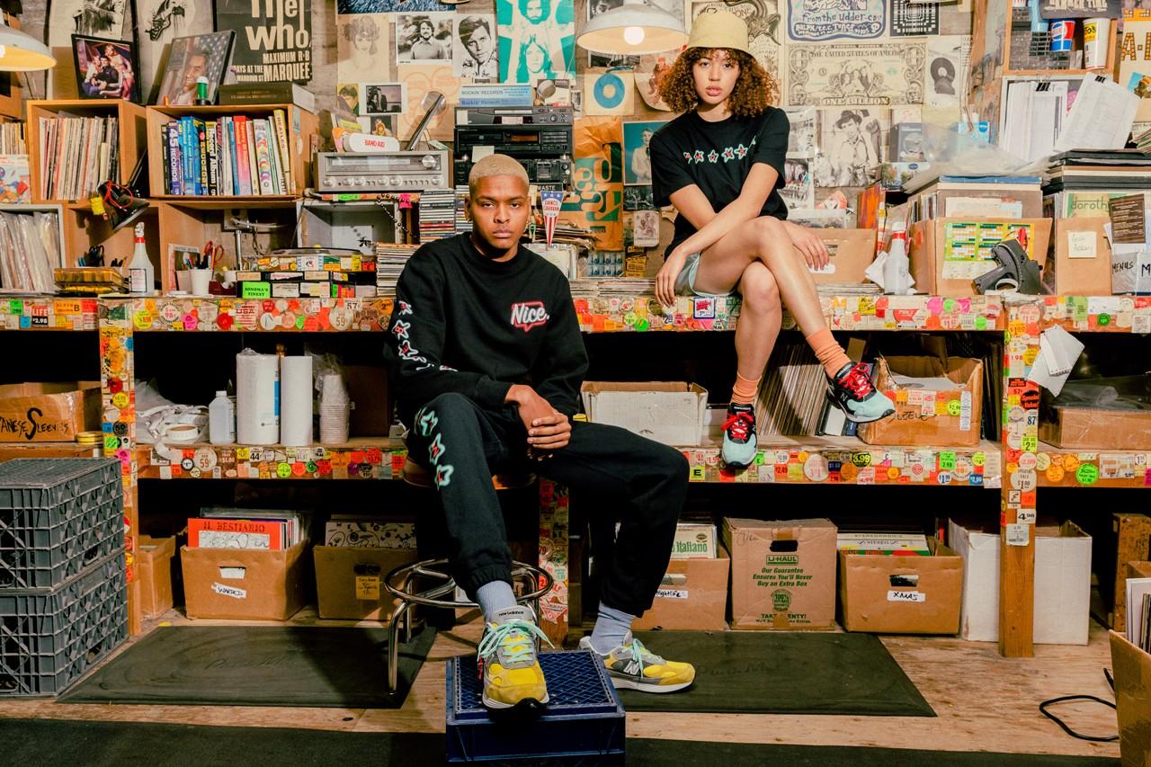 "Nice Kicks x Amoeba Music x New Balance 992 ""Peace Through Music"" ナイスキックス × アメーバミュージック × ニューバランス M992 ""ピース スルー ミュージック"" wearing"