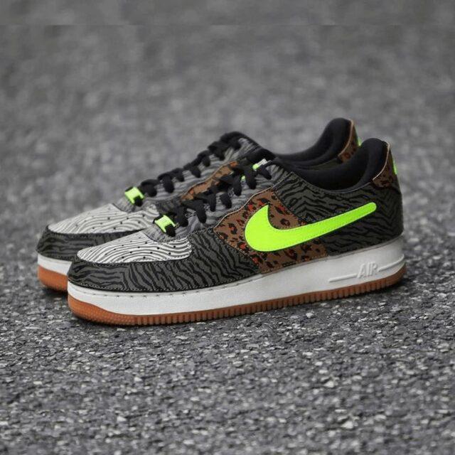 "Nike Air Force 1/1 ""Animal Instinct"" ナイキ エアフォース1/1""アニマル インスティンクト"" DM5329-200 Medium Olive/Volt-Rattan-Black main"