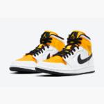 """ナイキ ウィメンズ エア ジョーダン 1 ミッド """"ユニバーシティ ゴールド"""" Nike-Air-Jordan-1-Mid-University-Gold-BQ6472-107-eyecatch"""