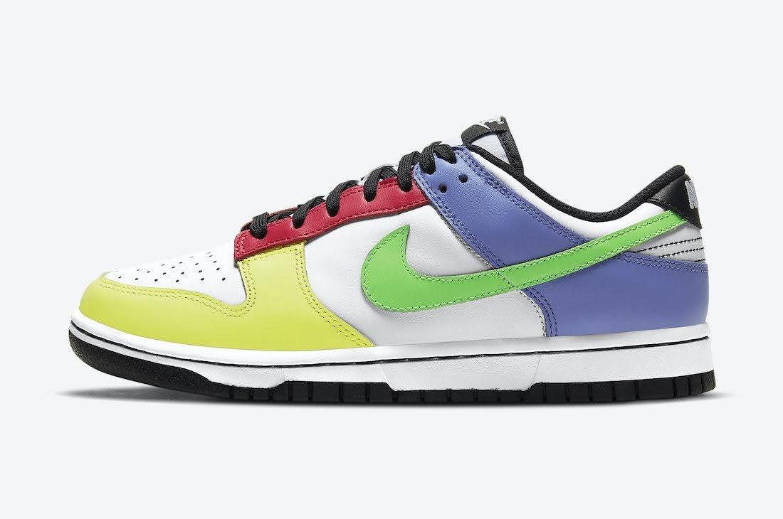 """ナイキ ウィメンズ ダンク ロー """"マルチカラー"""" Nike-Dunk-Low-Multi-Color-DD1503-106-side"""