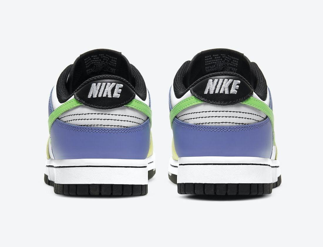 """ナイキ ウィメンズ ダンク ロー """"マルチカラー"""" Nike-Dunk-Low-Multi-Color-DD1503-106-heel"""