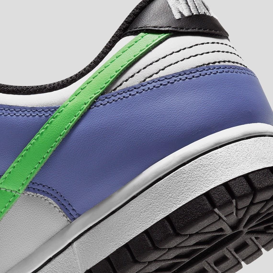 """ナイキ ウィメンズ ダンク ロー """"マルチカラー"""" Nike-Dunk-Low-Multi-Color-DD1503-106-side-heel-closeup"""