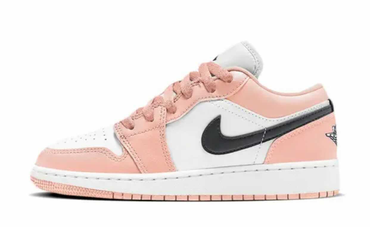 "Nike GS Air jordan 1 Low ""Light Arctic Pink"" ナイキ GS エアジョーダン 1 ロー ""ライトアークティック ピンク"" Black/White/pink 553560-800 main"