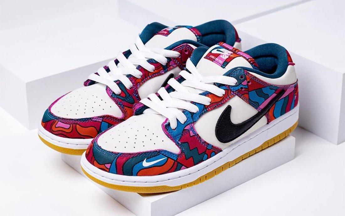 Piet Parra x Nike SB Dunk Low Pro QS パイエット パラ × ナイキ SB ダンク ロー プロ QS DH7695-102 detail main