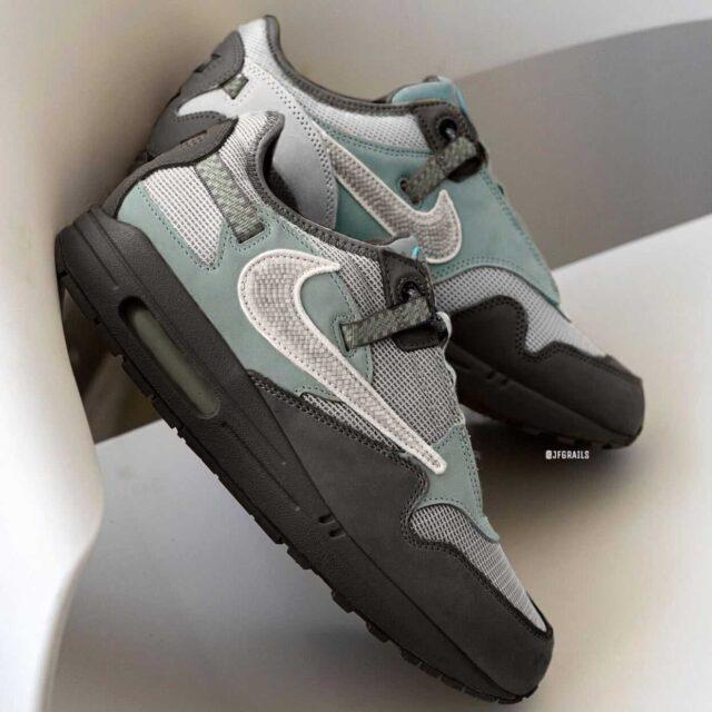 トラヴィス スコット ナイキ コラボ エア マックス 1 カクタスジャック カーブ ウェーブ Travis Scott x Nike Air Max 1 Cactus Jack Cave Stone image