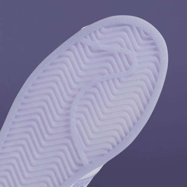 """アディダス ウィメンズ オリジナルス スーパースター """"ライト パープル"""" adidas_Superstar_wmns_light-purple_GW2936-sole-closeup"""