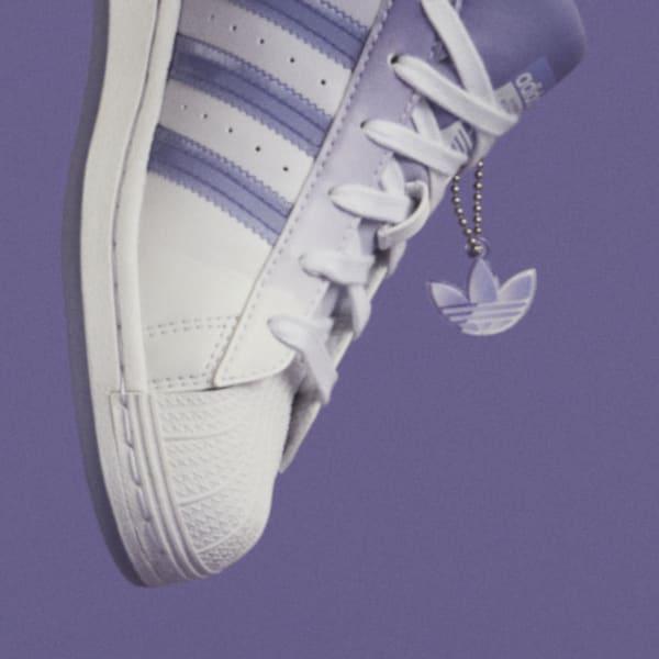 """アディダス ウィメンズ オリジナルス スーパースター """"ライト パープル"""" adidas_Superstar_wmns_light-purple_GW2936-tag-chain-2"""
