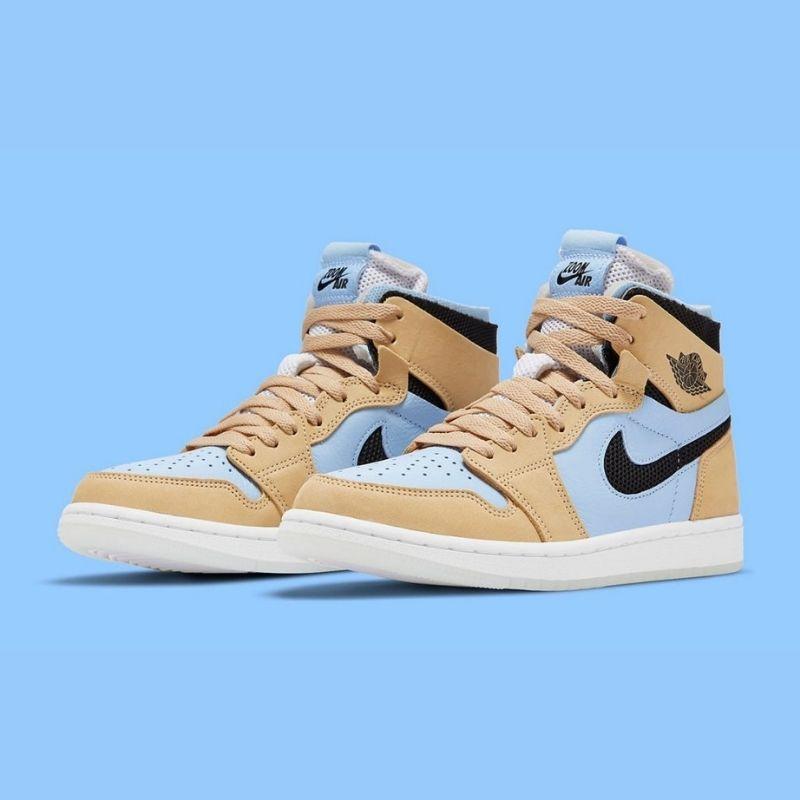 "5月31日発売【Nike Air Jordan 1 Zoom CMFT ""Straw/ Light Blue""】"