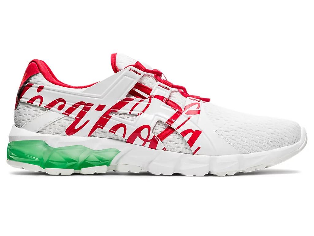 コカ コーラ × アシックス ゲル クォンタム 90 (ホワイト/ コーク レッド) asics-coca-cola-gel-quantum-90-white-1023A062-100-side