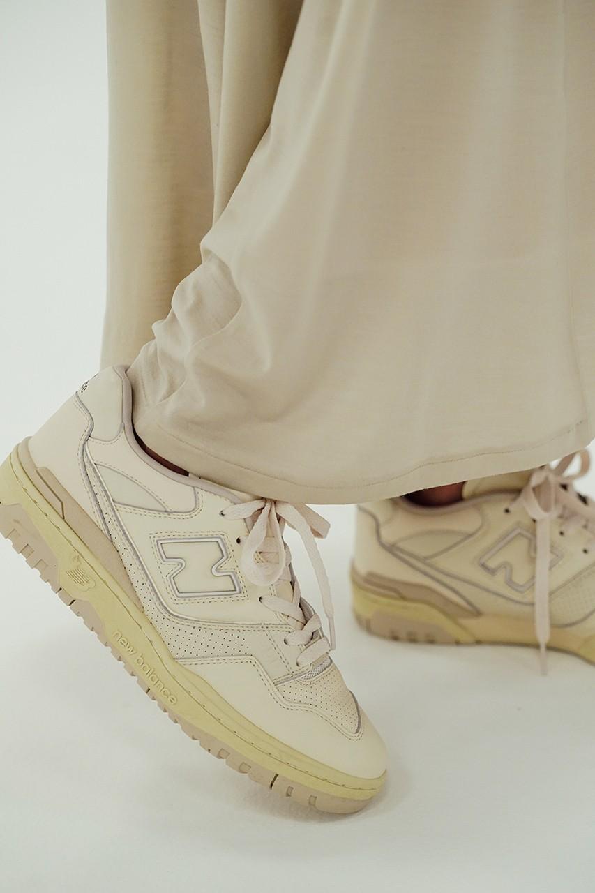 オーラリー ニューバランス 550 コラボレーション スニーカー auralee-new-balance-550-sneaker-collaboration-japan-colorway-fall-winter-2021 side