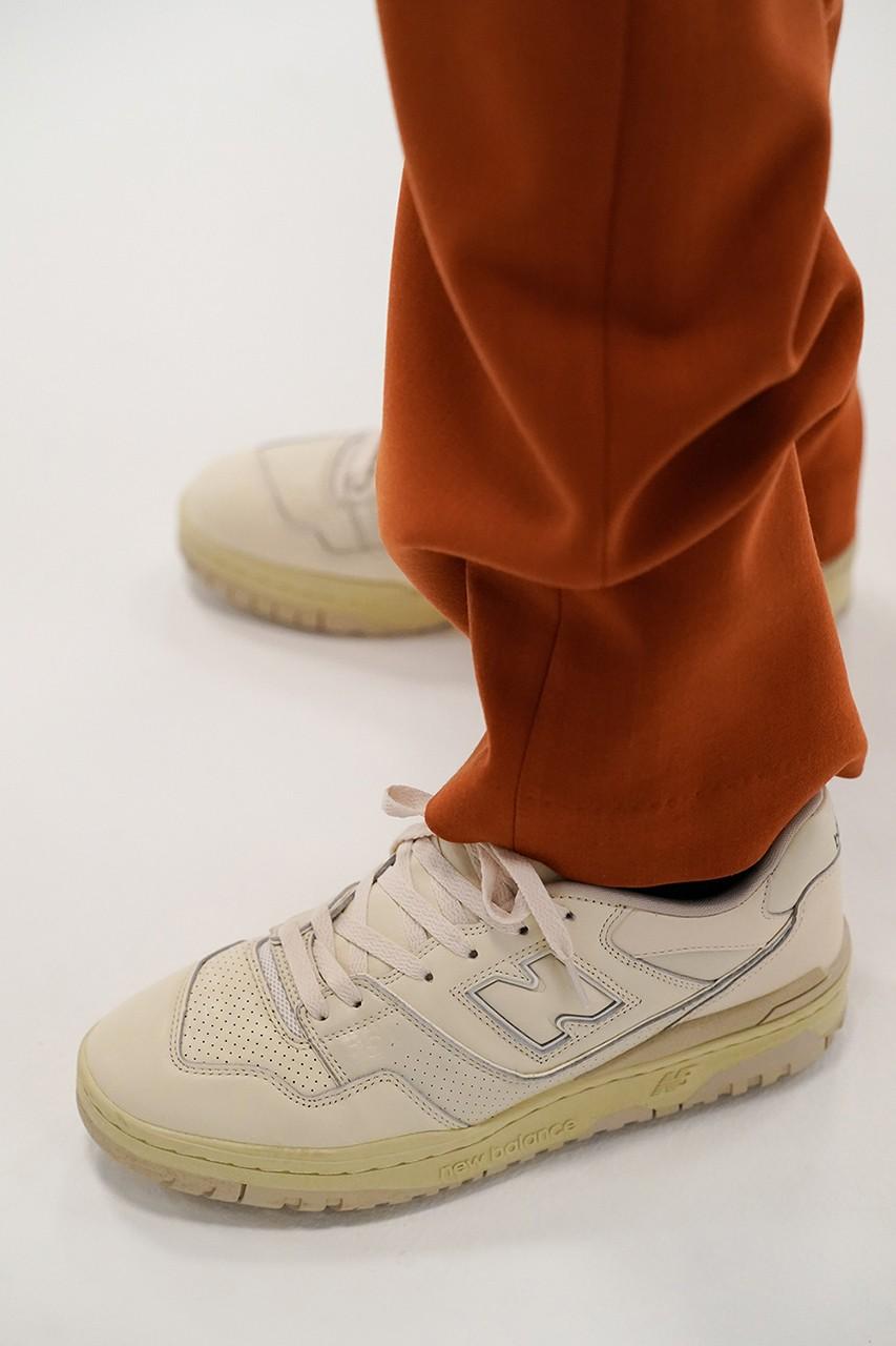 オーラリー ニューバランス 550 コラボレーション スニーカー auralee-new-balance-550-sneaker-collaboration-japan-colorway-fall-winter-2021 look side