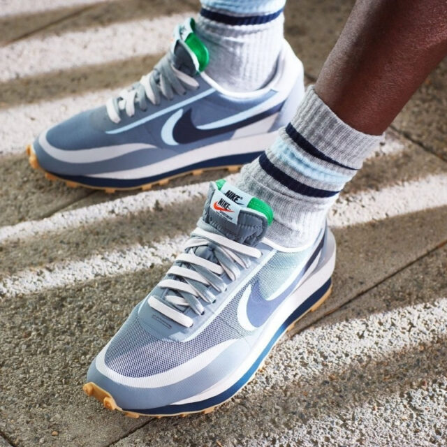 クロット サカイ ナイキ コラボ LDワッフル グレー clot x sacai x nike LDWaffle Grey Collab Sneakers image