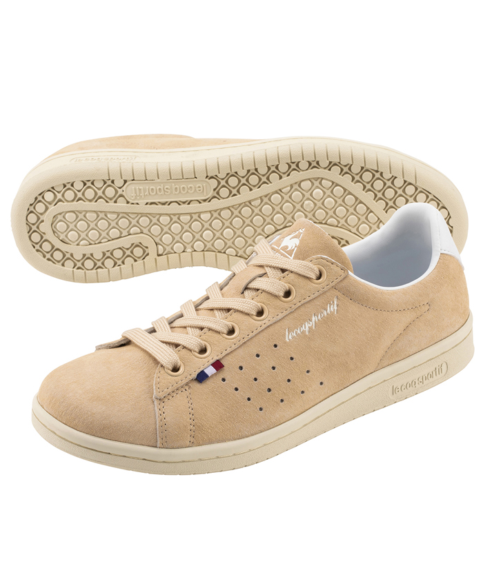 le coq sportif LA ローラン LE ladies-beige-sneakers-styles-le-coq-sportif