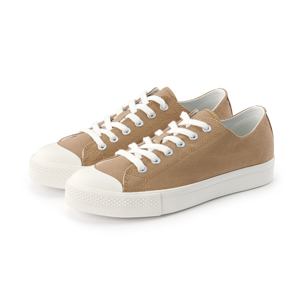 無印良品 疲れにくい 撥水スニーカー ladies-beige-sneakers-styles-muji