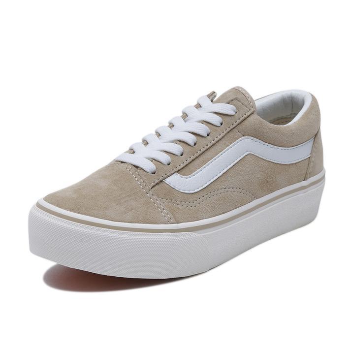 VANS オールドスクール プラット ladies-beige-sneakers-styles-vans-old-school-plat