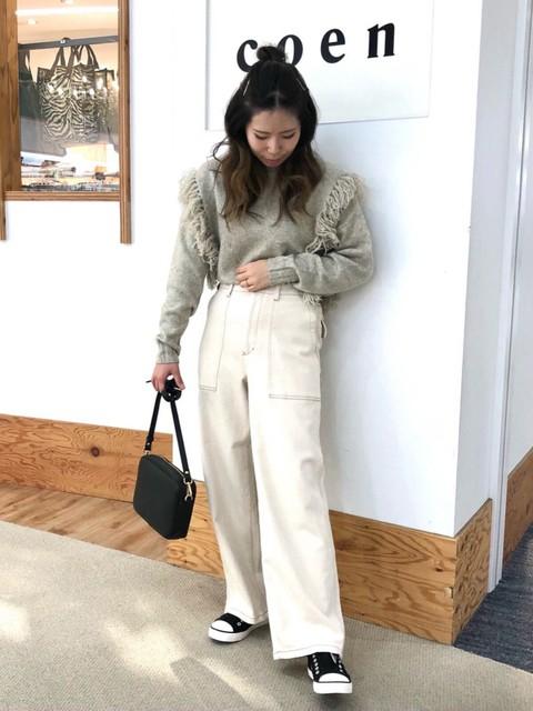 【coen】撥水キャンバススリッポン×デニムパンツ low-price-sneakers-style-coen-denim-pants