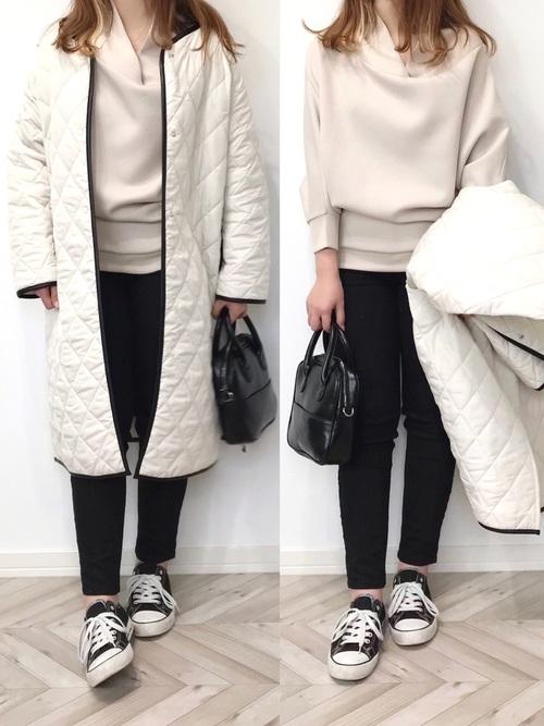 【しまむら】キャンバス黒スニーカー×黒パンツ low-price-sneakers-style-shimamura-black-pants