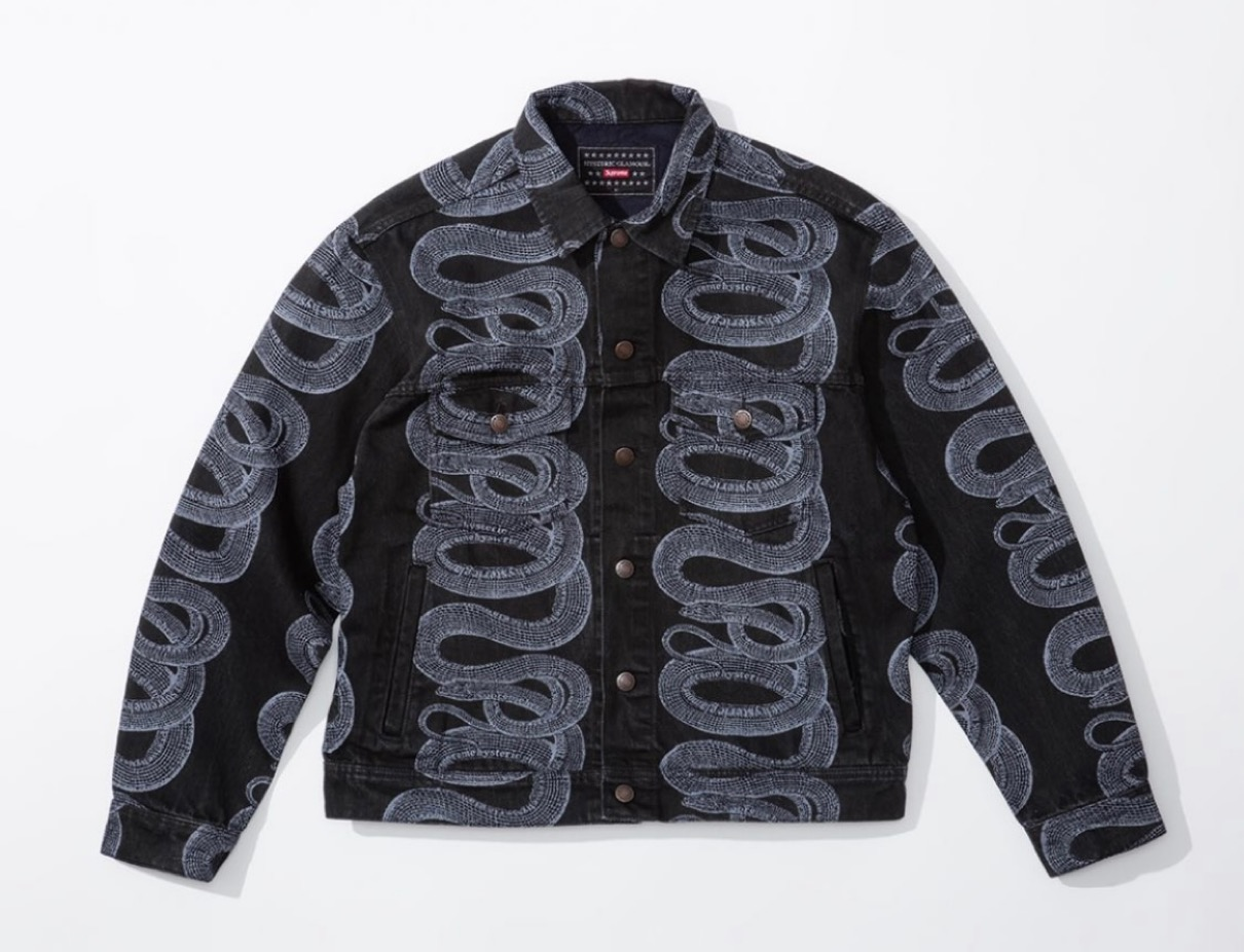 supreme 2021ss シュプリーム 2021春夏 week4 ヒステリックグラマー HYSTERIC GLAMOUR Supreme®/HYSTERIC GLAMOUR Snake Denim Trucker Jacket