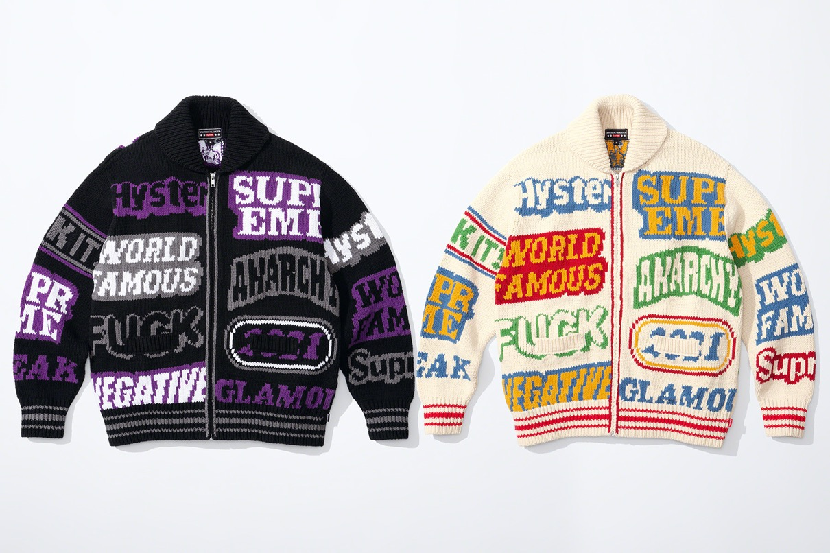 supreme 2021ss シュプリーム 2021春夏 week4 ヒステリックグラマー HYSTERIC GLAMOUR Supreme®/HYSTERIC GLAMOUR Supreme®/HYSTERIC GLAMOUR upreme®/HYSTERIC GLAMOUR Supreme®/HYSTERIC GLAMOUR Logos Zip Up Sweater