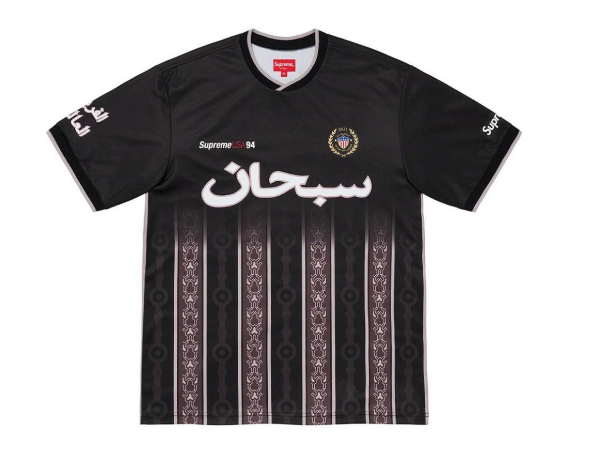 supreme 2021ss シュプリーム 2021春夏 week5 ノースフェイス Arabic Logo Soccer Jersey