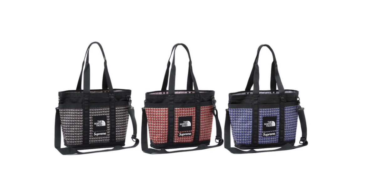 supreme 2021ss シュプリーム 2021春夏 week5 ノースフェイス Supreme®/The North Face® Studded Explore Utility Tote. 17L.
