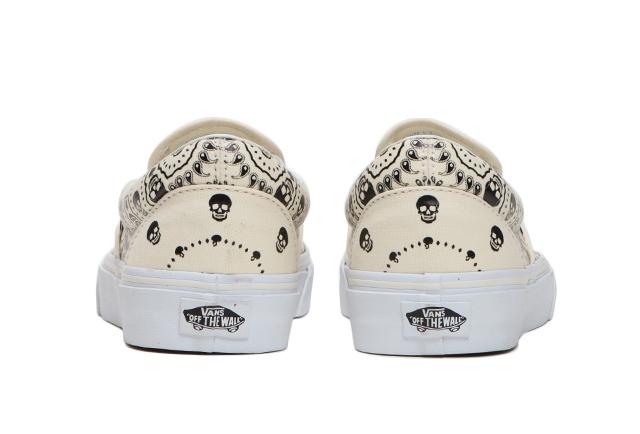 """ヴァンズ """"バンダナ"""" スリッポン vans-slip-on-white-heel"""