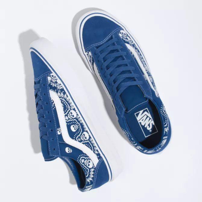 """ヴァンズ """"バンダナ"""" スタイル 36 vans-style-36-blue-look"""