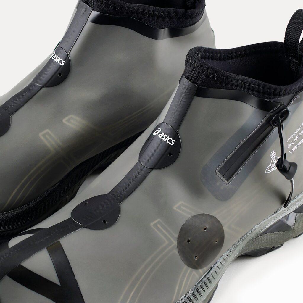 ヴィヴィアン ウエストウッド × アシックス ゲル カヤノ 27 LTX (ブラック/ ブラック) vivienne-westwood-asics-gel-kayano-27-ltx-black-1201A115001_001-top-closeup