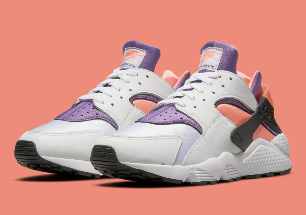 Nike Air Huarache White/Purple/Bright Mango/Black DD1068-101 main