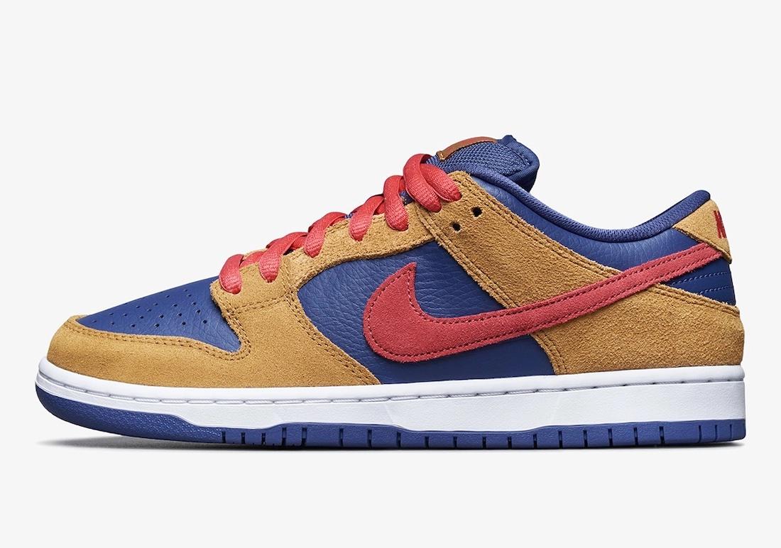 """ナイキ SB ダンク ロー プロ """"ウィート アンド パープル"""" Nike-SB-Dunk-Low-Wheat-and-Purple-BQ6817-700-side"""