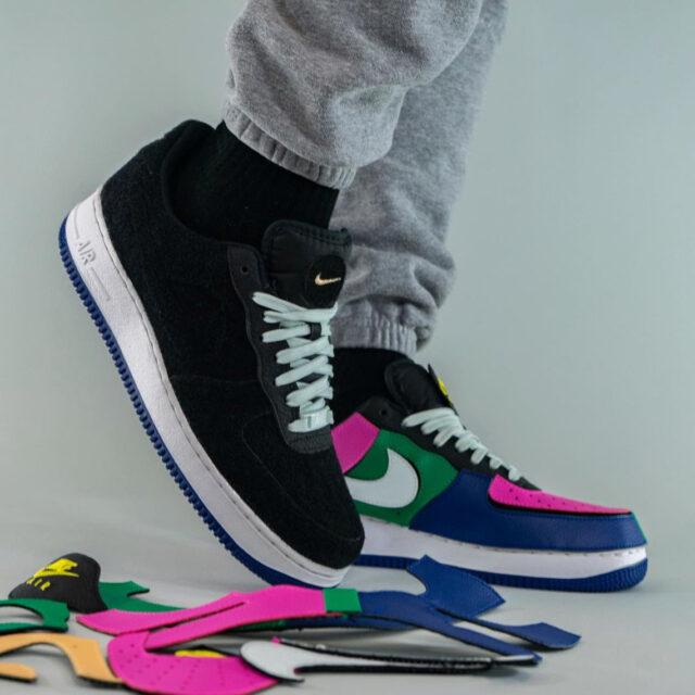 """ナイキ エア フォース 1/1 """"ブラック マルチ"""" Nike-Air-Force-1-1-Black-Multi-DB2576-001-pair-look-1"""