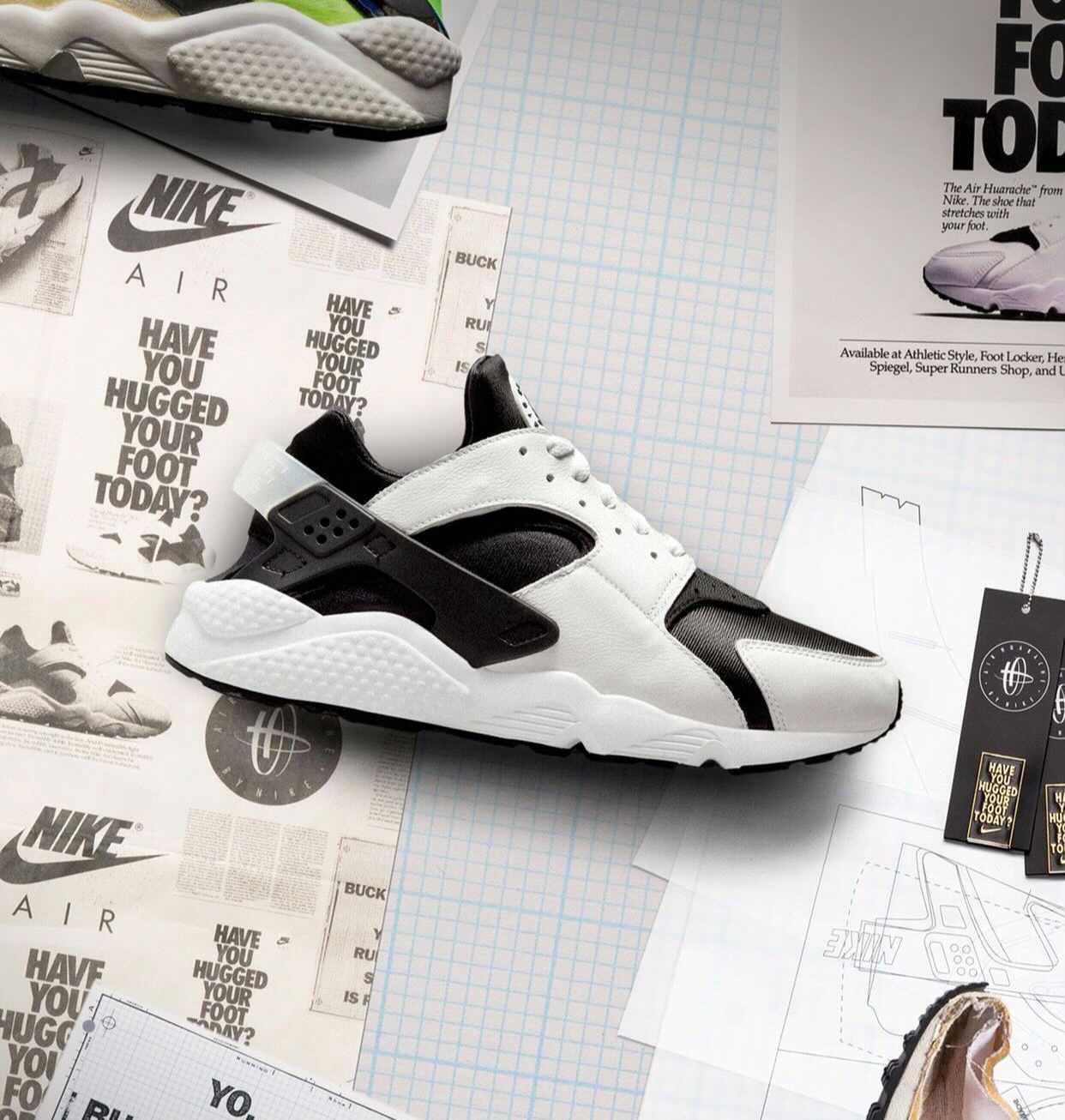 """Nike Air Huarache """"Black / White"""" / ナイキ エア ハラチ """"ブラック / ホワイト"""""""
