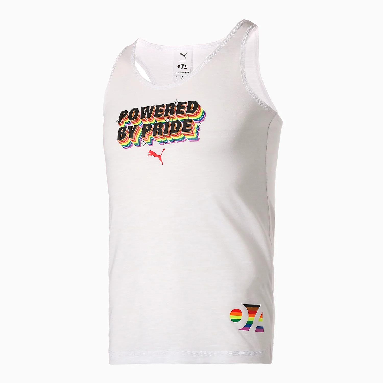 プーマ プライド パック 2021年 Puma Pride Pack 2021 OUT FOUNDATION graphic tank white