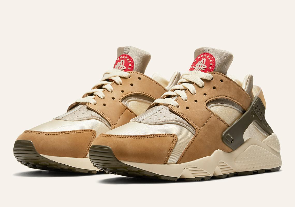 """ステューシー × ナイキ エア ハラチ """"デザート オーク"""" Stussy-Nike-Air-Huarache-Desert-Oak-dh3323-200"""