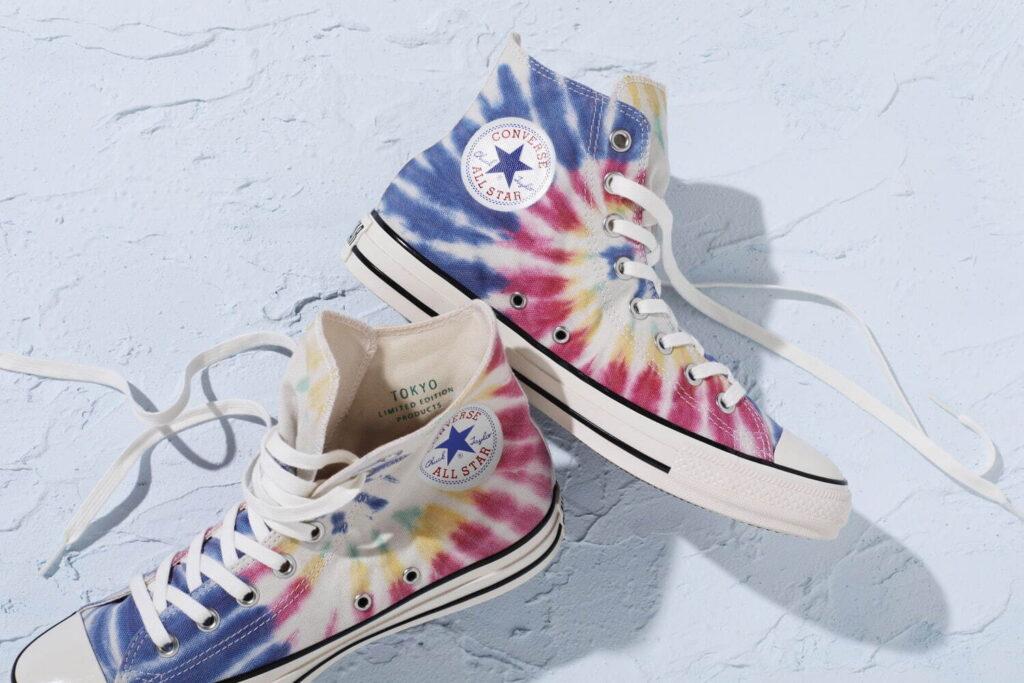 """9月21日発売【Converse ALL STAR US Tie-Dye Localize HI """"TOKYO""""】1点もの☆タイダイ柄コンバース"""