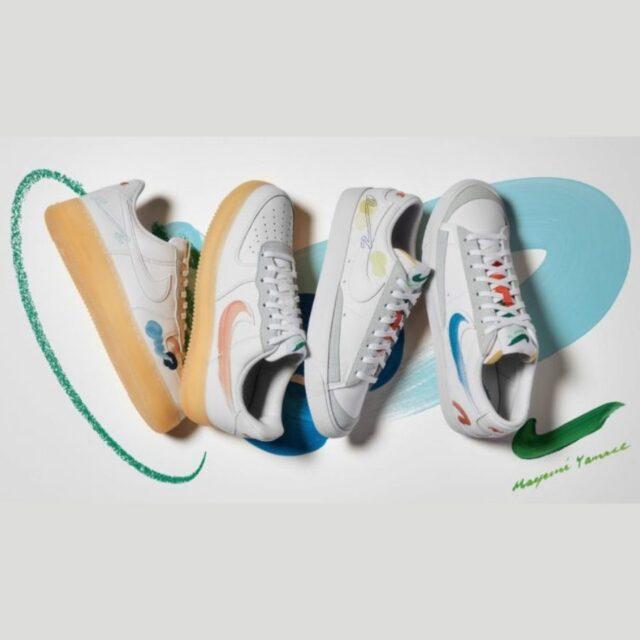 Nike × 山瀬まゆみ Air Force 1 & Blazer Low Flyleather Nike × 山瀬まゆみ Air Force 1 Flyleather White DB3598-100 main