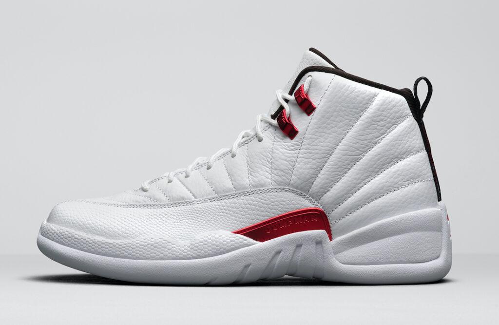 エアジョーダン 12 ツイスト ホワイト Air-Jordan-12-Twist-White-University-Red-CT8013-106-side