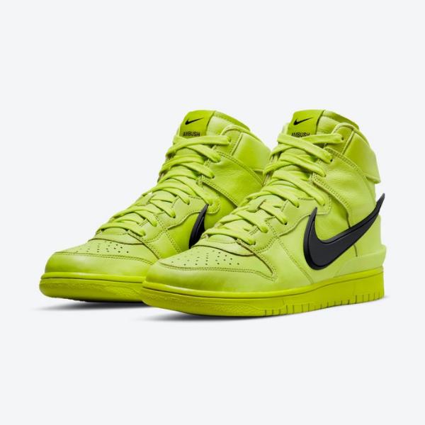 """7月30日発売【Ambush x Nike Dunk High """"Flash Lime""""】ライムカラーのアンブッシュダンクが公開"""
