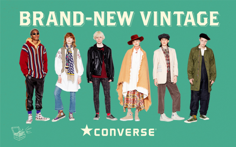 """【Converse 2021 Fall & Winter """"BRAND-NEW VINTAGE"""" Collection】"""
