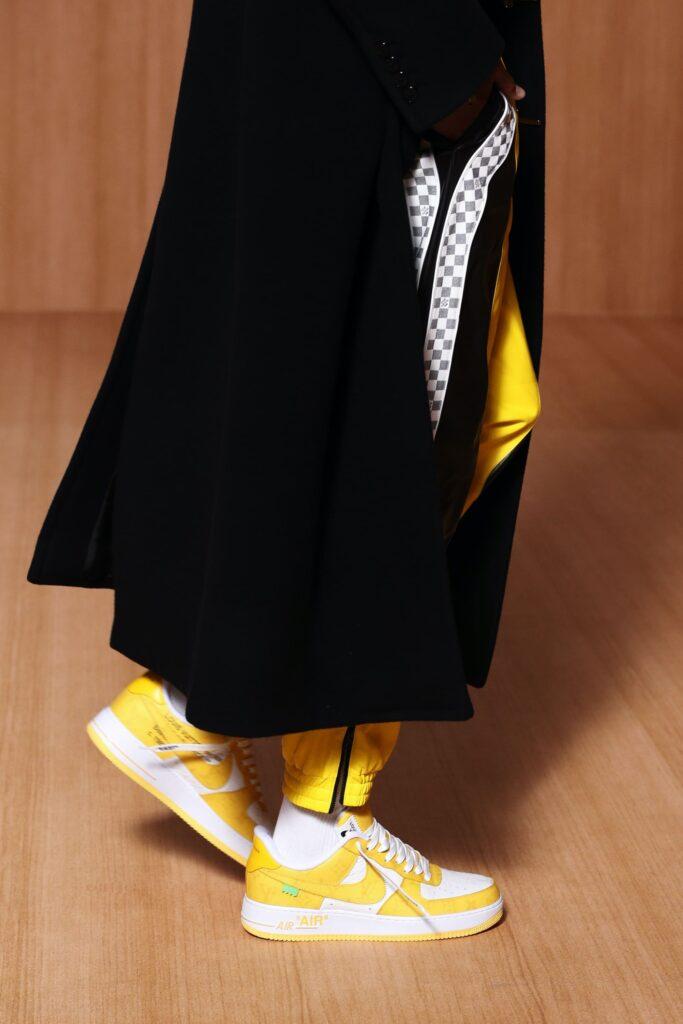 ルイヴィトン ナイキ コラボ ヴァージル アブロー 2021年 春夏 メンズ コレクション Louis Vuitton Nike Virgil Abloh Air Force 1 2022SS Yellow