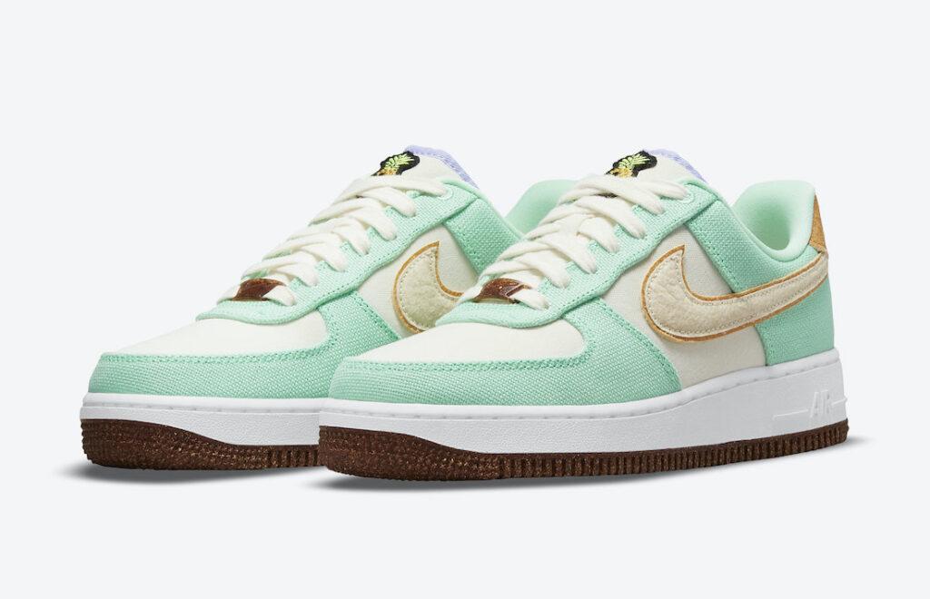 """ナイキ ウィメンズ エア フォース 1 ロー """"ハッピー パイナップル"""" Nike-Air-Force-1-Low-Happy-Pineapple-CZ0268-300-pair"""