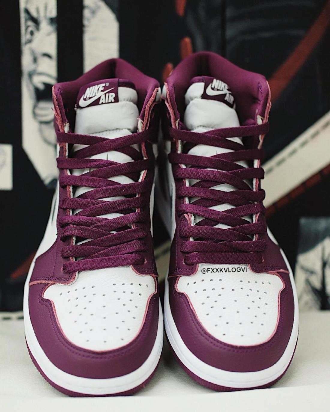 """ナイキ エア ジョーダン 1 ハイ OG """"ボルドー"""" Nike-Air-Jordan-1-Hi-Bordeaux-555088-611-look-2"""