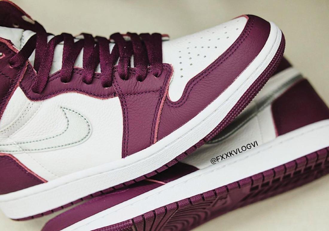 """ナイキ エア ジョーダン 1 ハイ OG """"ボルドー"""" Nike-Air-Jordan-1-Hi-Bordeaux-555088-611-look-5"""