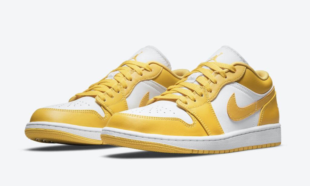 """8月29日,31日,9月2日発売【Nike Air Jordan 1 Low """"White Pollen""""】GSサイズ展開あり"""