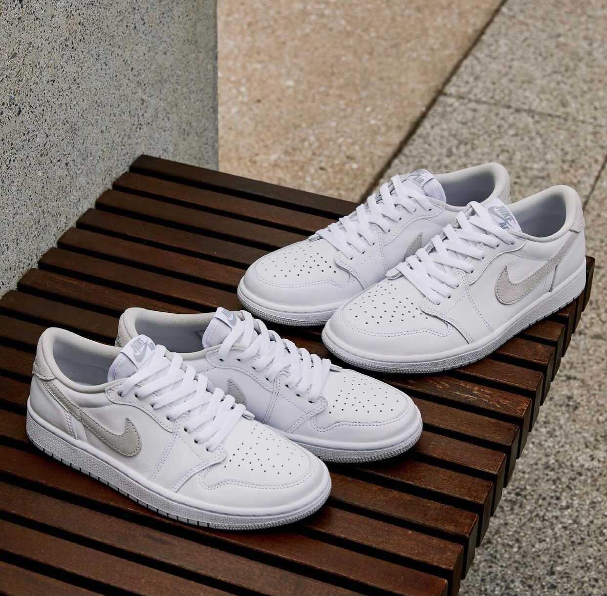 """ナイキ ウィメンズ エア ジョーダン 1 レトロ ロー OG """"ニュートラル グレー"""" Nike-Air-Jordan-1-Low-OG-Neutral-Grey-CZ0775-100-pair main"""