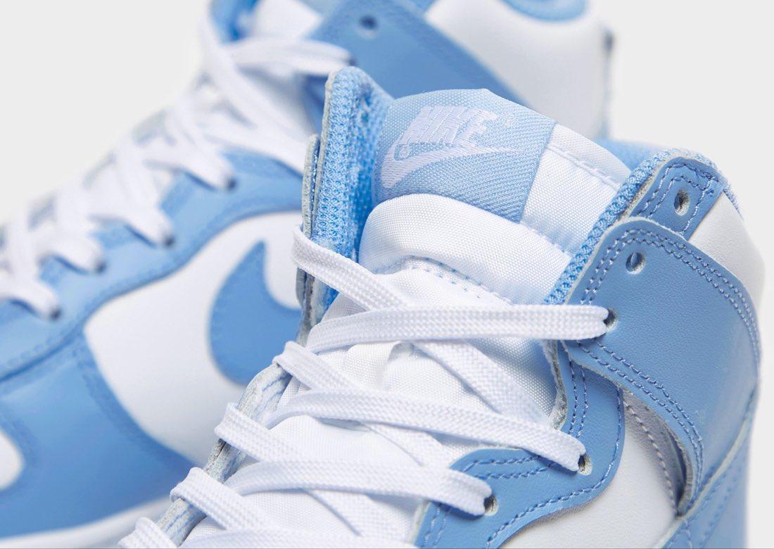 """ナイキ ダンク ハイ """"ユニバーシティブルー"""" Nike-Dunk-High-University-Blue-first-look-tongue"""