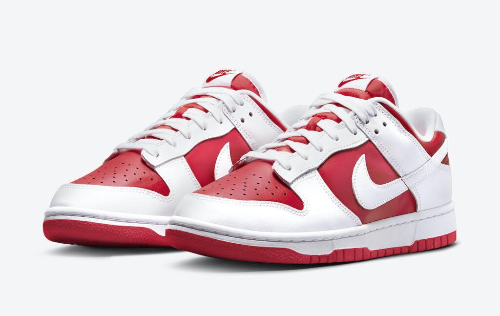 """7月30日発売【Nike Dunk Low """"Championship Red""""】赤が目を引く伝統モデルがスタンバイ!"""