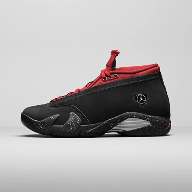 "Nike Air Jordan 14 Low WMNS ""Bred"" ナイキ エアジョーダン 14 ロー ウィメンズ ジムレッド Black/Metallic Silver-Gym Red DH4121-006 main"