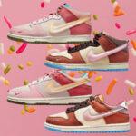 ソーシャル ステイタス ナイキ コラボ ダンク ミッド ロー ピンク ブラウン Social-Status-Nike-Dunk-Low-Mid-Pink-Glaze-Canvas-Brown-square